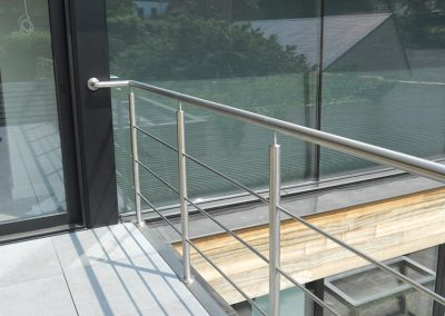Balustrade in inox