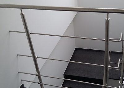 Inox trapleuning met balustrade