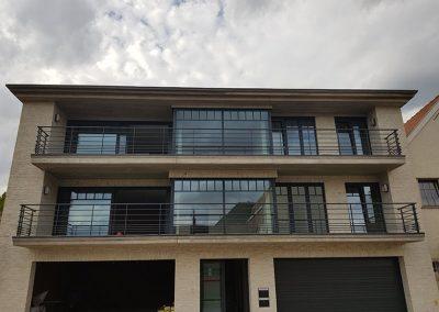 Borstwering terras appartement op maat NDR constructies