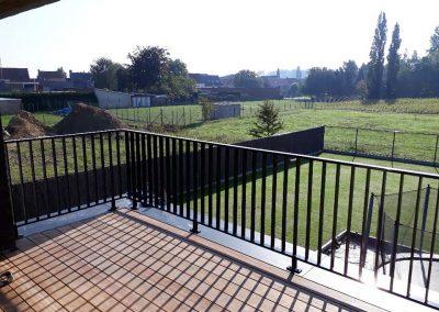 Aluminium balustrade terras - zwart - NDR Constrctuies