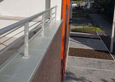 Terrasbalustrade op maat - aluminium - NDR Constructies